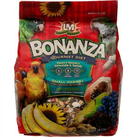 Bonanza Gourmet Diet (LM Animal Farms Bonanza Small Parrot Gourmet Diet 4 lbs )