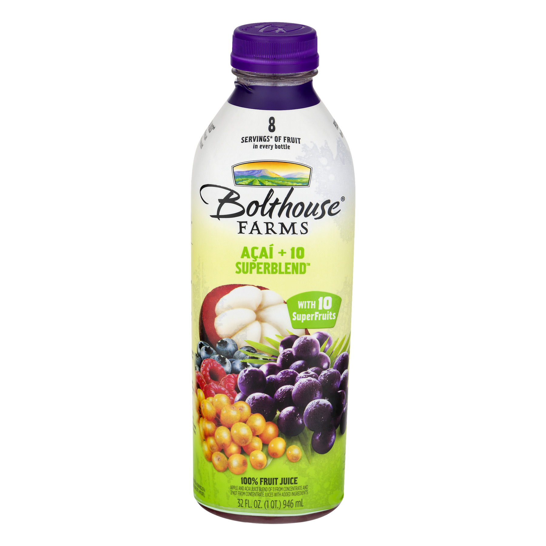 Bolthouse Farms Acai + 10 Superblend 100% Fruit Juice + Boosts 32 fl. oz. Bottle