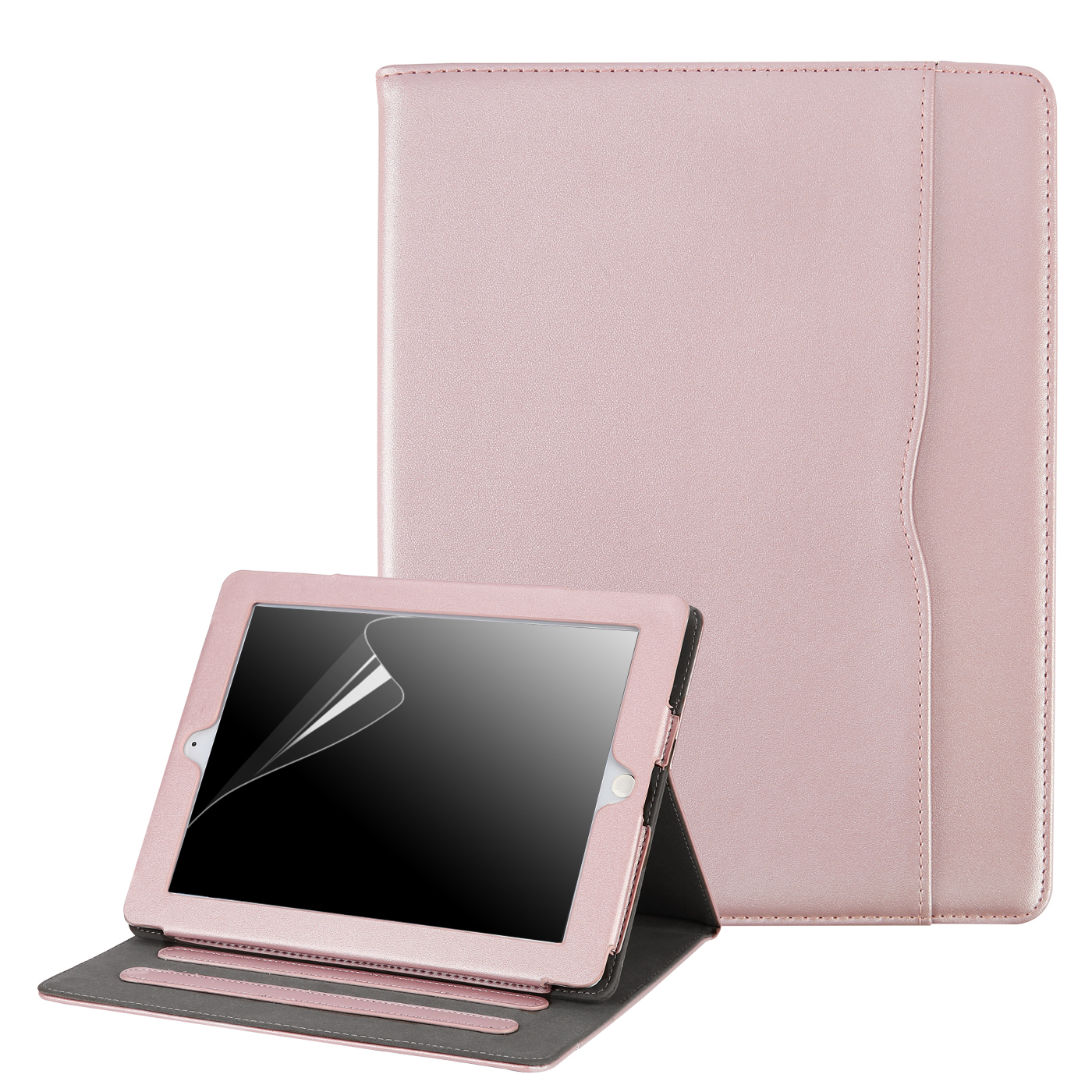 HDE iPad 2 3 4 Case Slim Fit Leather Folio Cover Magnetic Closure Auto Sleep Wake Flip Stand for Apple iPad 2nd 3rd 4th Generation (Purple)