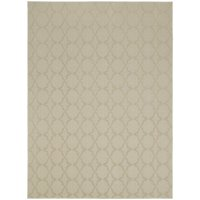 Garland Rug Sparta Solid Tan 5'x7' Geometric Indoor Area Rug