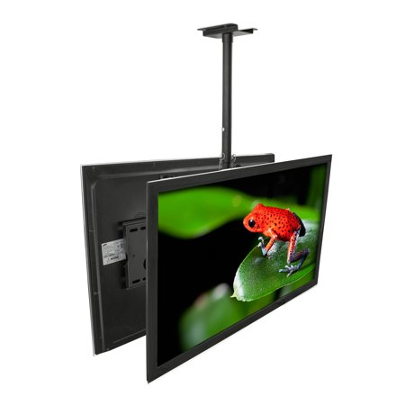 Haier Component Tv - Mount-It! Dual Screen Rotating and Tilting Ceiling Mount for Samsung, Sony, LG, Sharp,Vizio, Haier, Toshiba, Sharp, Element,Westinghouse, 4K, 32, 40, 42, 48, 50, 55, 60, 65, 70, 75 Inch TVs (MI-502B)