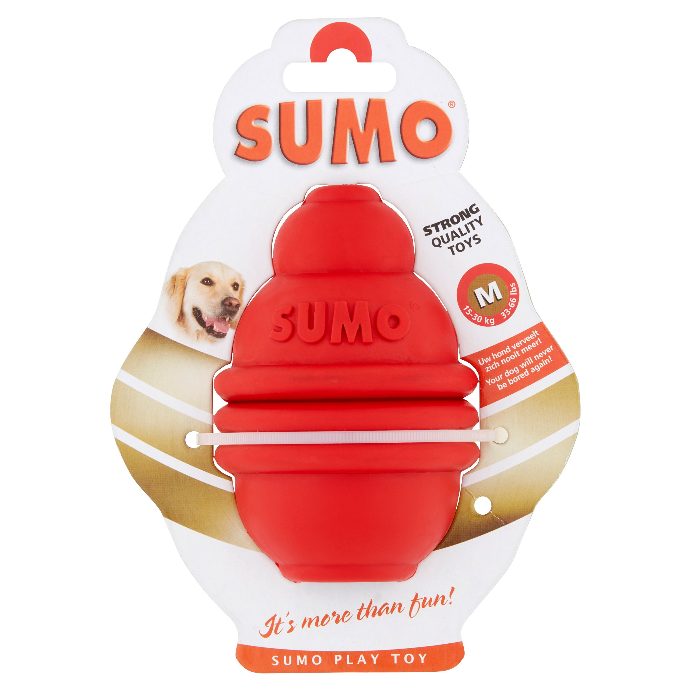 Sumo Medium Red Rubber Play Toy