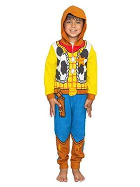 Disney Toy Story Sheriff Woody Boys Costume Pajama Costume Hooded Union Suit (Size 6) Yellow