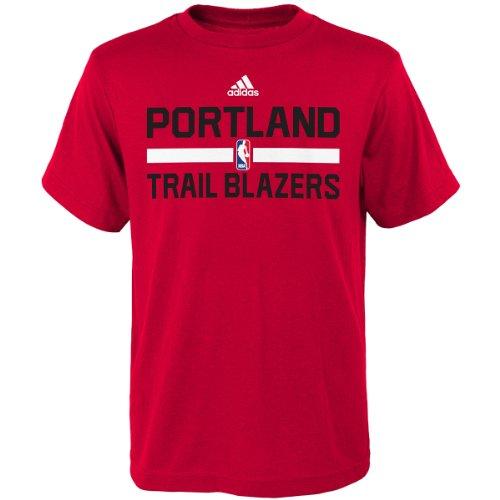 Portland Trail Blazers Adidas Red Practice Youth T-Shirt (Medium)