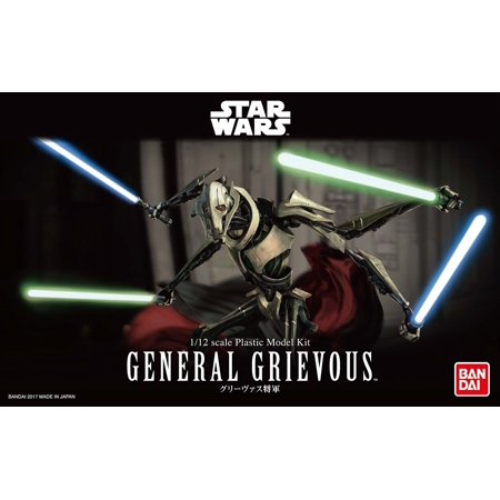 - Bandai Hobby Star Wars General Grievous 1/12 Scale Action Figure Model Kit