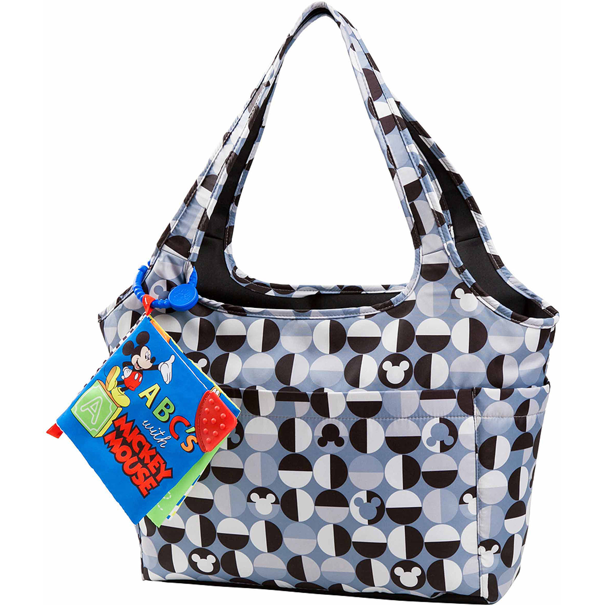 Disney Mickey Mouse Geo Icon Diaper Bag with Soft Toy Book