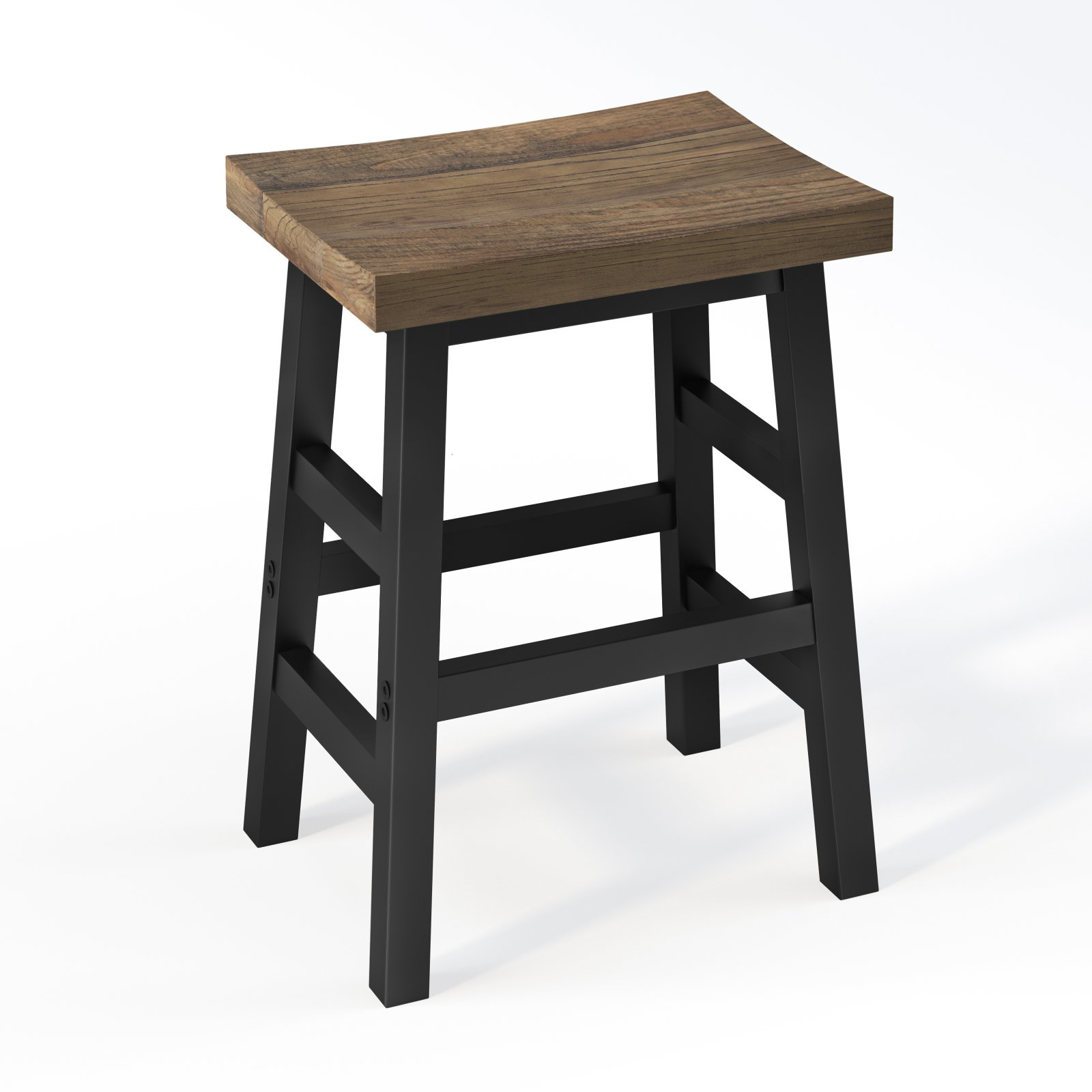 Alaterre Pomona Reclaimed Wood 26 Counter Stool With Metal Legs