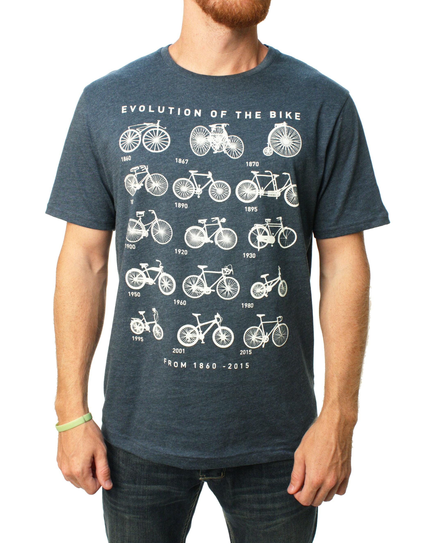 Banana Republic Men/'s Short Sleeve Graphic T Shirt Crew Neck Tee Bike Evolution