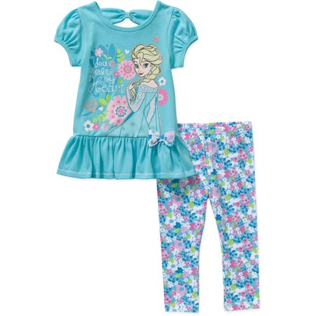 Disney Frozen Toddler Girls' Skirted Tunic and Leggings Outfit Set