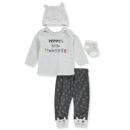 Rene Rofe Baby Boys' Mommy's Little Monster 4-Piece Layette Set (Baby Masters Clothes)