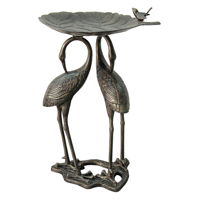 Innova Double Heron Lily Pad Birdbath by Innova Hearth and Home Inc