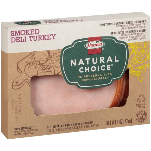 Hormel Natural Choice Sliced Smoked Deli Turkey, 8 oz