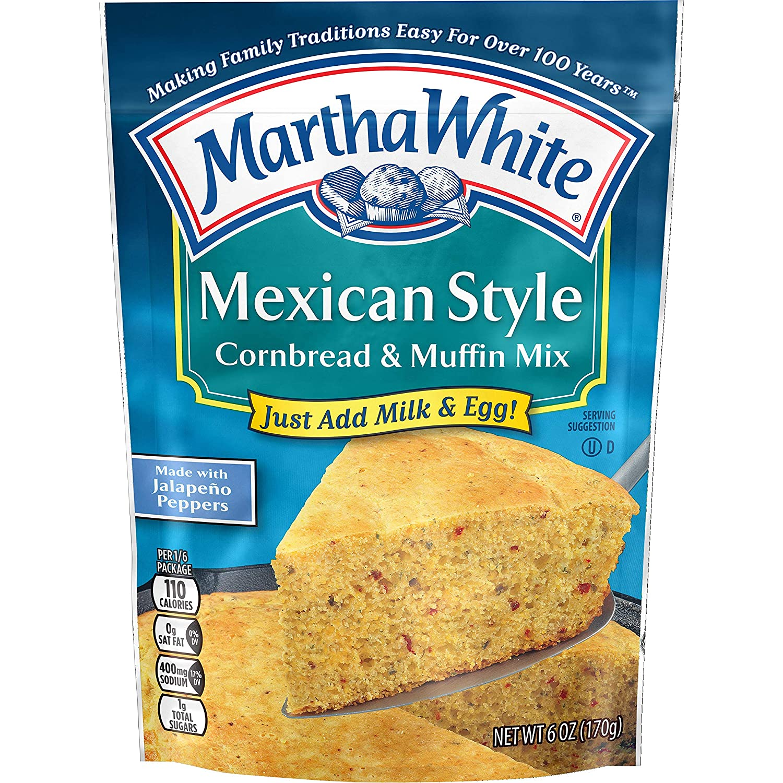 Martha White Mexican Style Cornbread and Muffin Mix, 6 ...