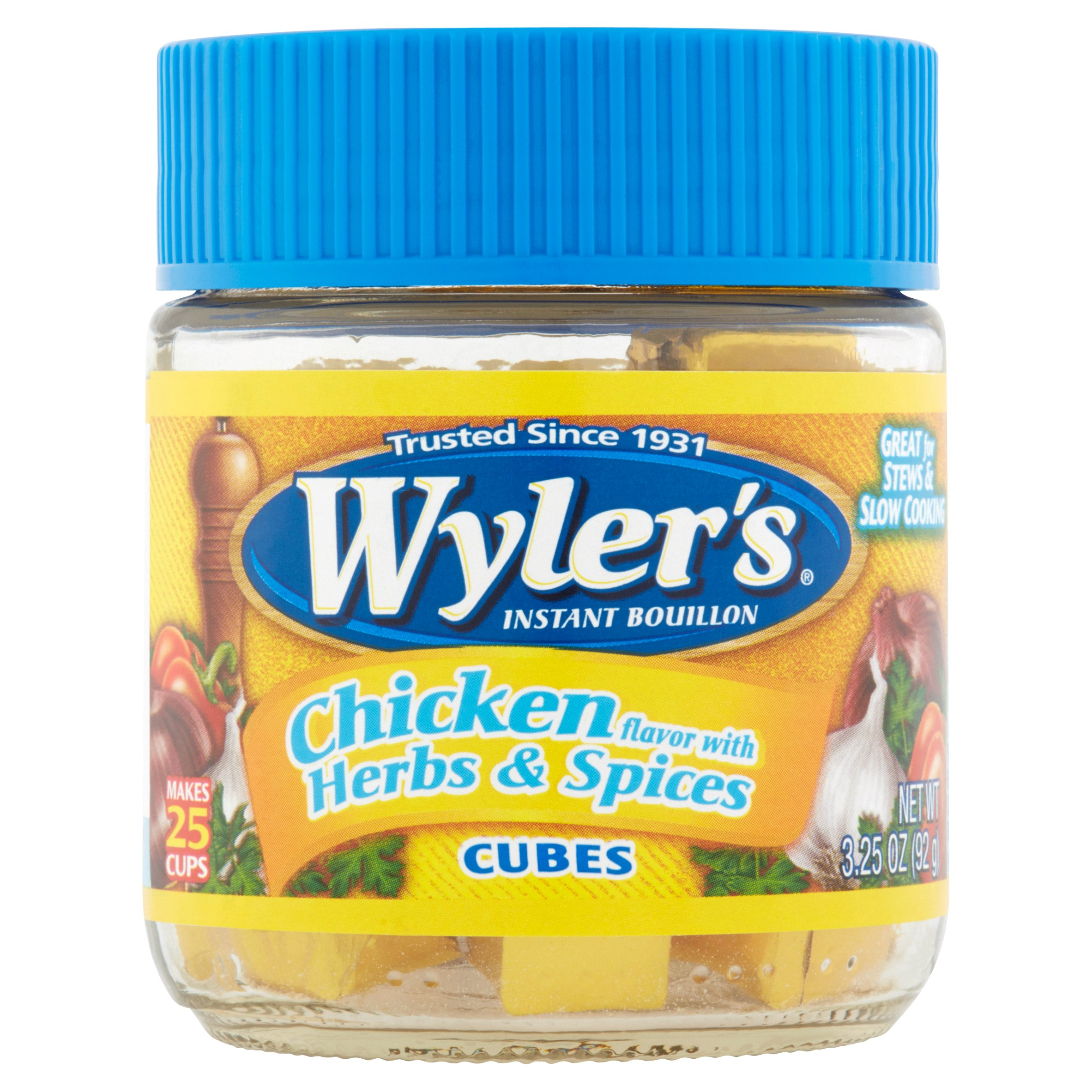 Wyler's Instant Bouillon Chicken Herbs & Spices Cubes, 2 Oz by Heinz North America