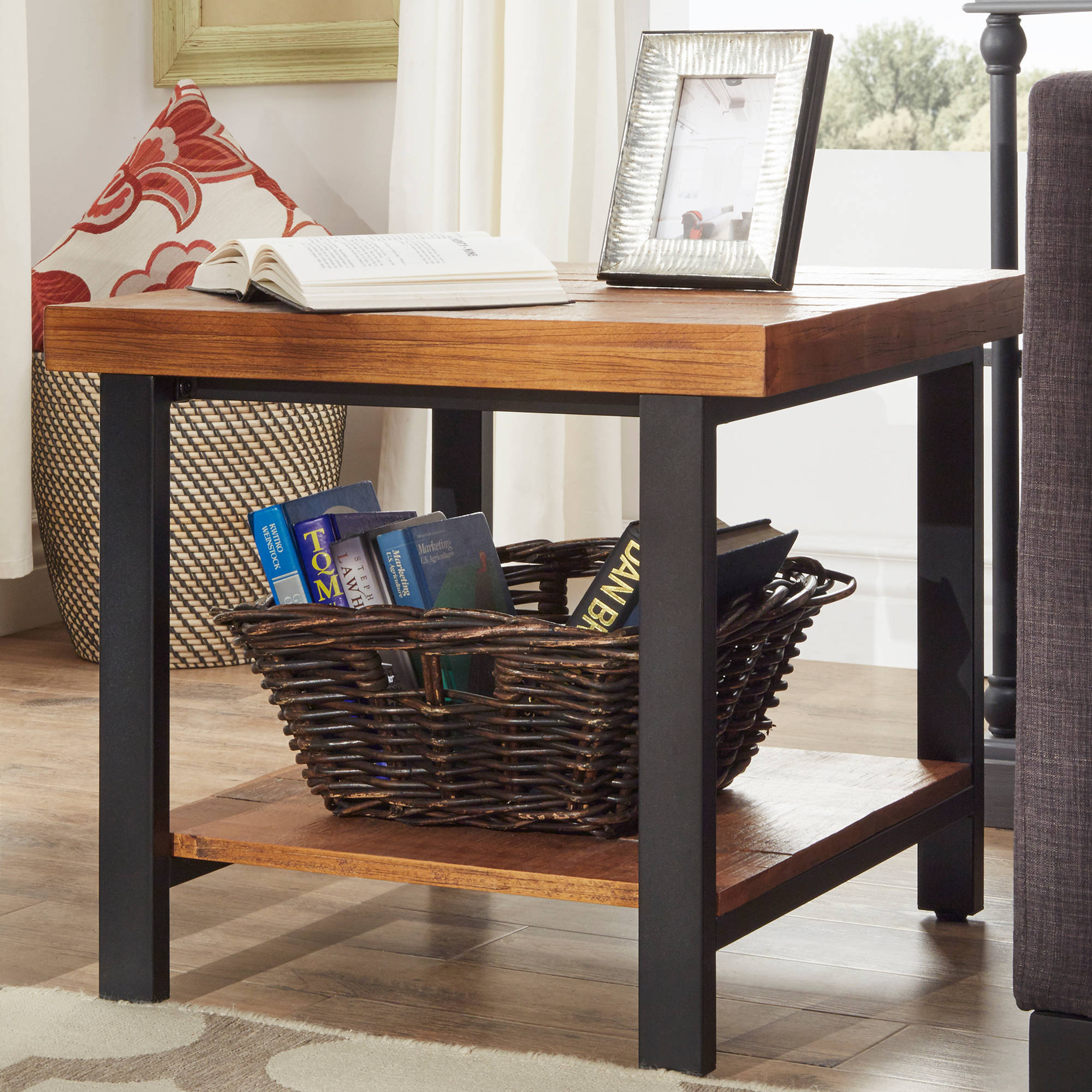 Weston Home Hebron End Table, Multiple Colors