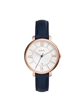 74dac7753 Product Image Women's Jacqueline Three-Hand Blue Leather Band Watch (Style:  ES3843)