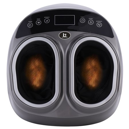 Shiatsu Foot Massager Full Massage Machine Heating Kneading Rolling Feet Multi Level intensity mode Setting Air Compression Pressure bag Relief Home Tired Legs Plantar Increase Blood Flow (The Best Foot Massage Machine)