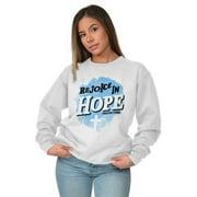 Jesus Sweat Shirt Sweatshirt For Womens Rejoice In Hope Christian Religious
