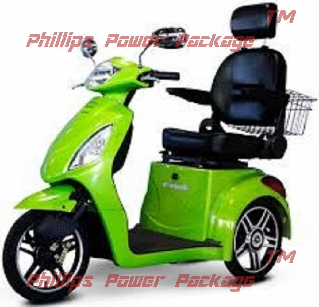 E-Wheels - EW-36 Elite Scooter with Electromagnetic Brakes - 3-Wheel - Green