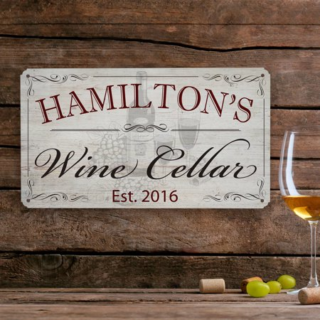Personalized Wine Cellar Metal Sign