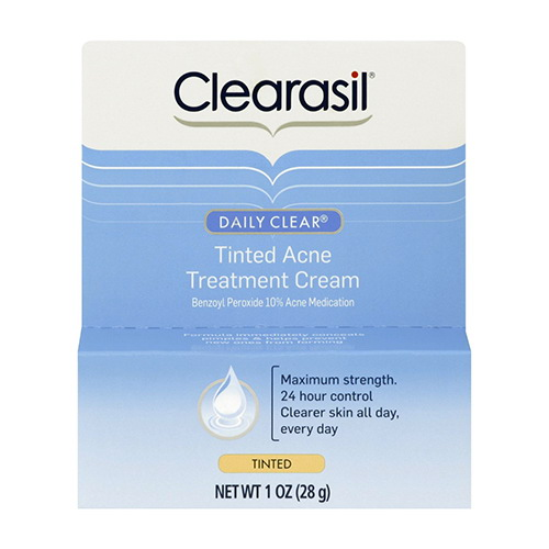 Clearasil Daily Clear  Maximum Strength Tinted Acne Treatment Cream - 1 Oz, 2 Pack