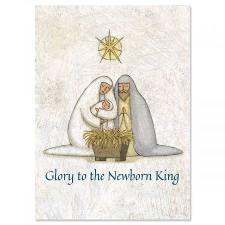 "Rejoice Religious Christmas Cards- Greeting cards, Set of 18, 5"" x 7"""
