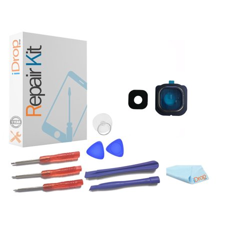 Samsung Galaxy S6 Rear Lens Blue Replacement Kit - 1 Year Warranty iDropShop™ (Oem Replacement Lens)