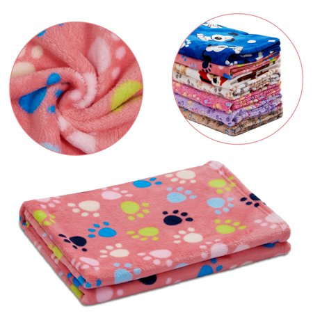 Puppy Sleeping Small Cats Bed Doggy Soft Warming Fleece Pet Dogs Blanket 104*76cm Pink -