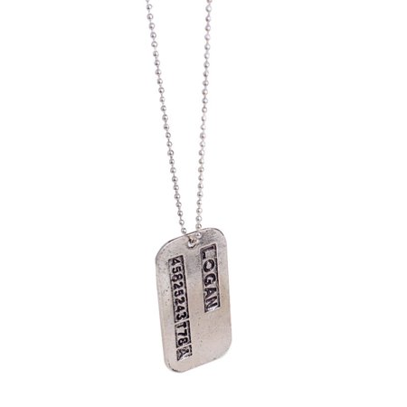 Wolverine Dog Tag Necklace Logan ID X-Men Movie Costume Military Chain - Mens Dog Costume