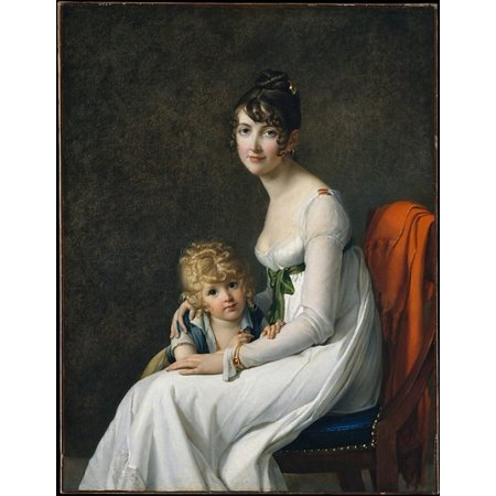 Madame Philippe Panon Desbassayns De Richemont  Jeanne Egl  Mourgue 1778 1855  And Her Son Eug Ne  1800 1859  Poster Print By Marie Guillelmine Benoist  French Paris 1768 1826 Paris   18 X 24