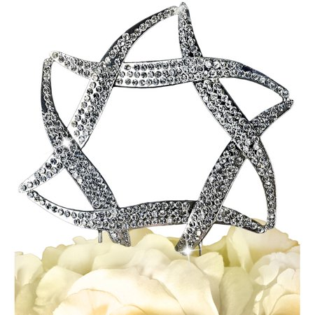 Unik Occasions Sparkling Collection Star Of David Cake Topper