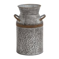 Antique Styled Metal Galvanized Milk Can