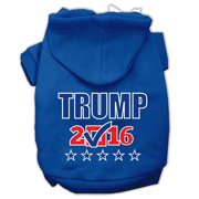 Mirage Pet 62-155 XLBL Trump Checkbox Election Screenprint Pet Hoodies, Blue - Extra Large - Size 16
