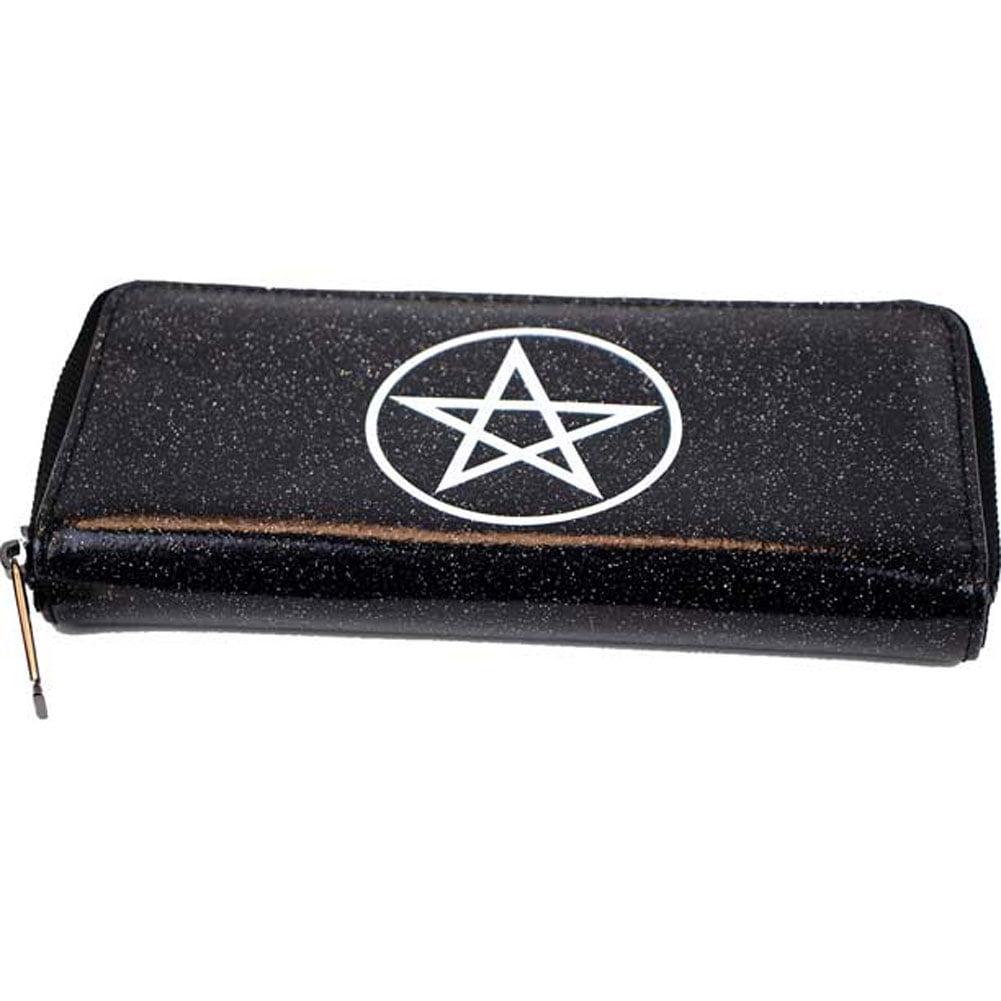 Motley Crue Womens Black Glitter PU Wallet Girls Wallet Black