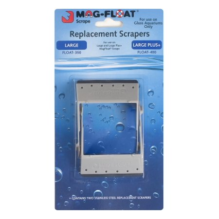 Gulfstream Tropical Aquarium Mag Float 00401 Replacement Scraper For the Mag-Float 350 and 400 Magnet Cleaner, 2/Pack