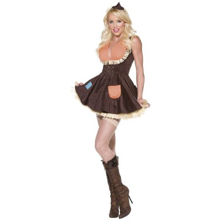 Smiffys Sexy Womens Scarecrow Wizard of Oz Halloween Costume (Woman Wizard Costume)