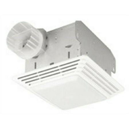 Broan HD80L 80 CFM White Heavy Duty Exhaust Fan Light