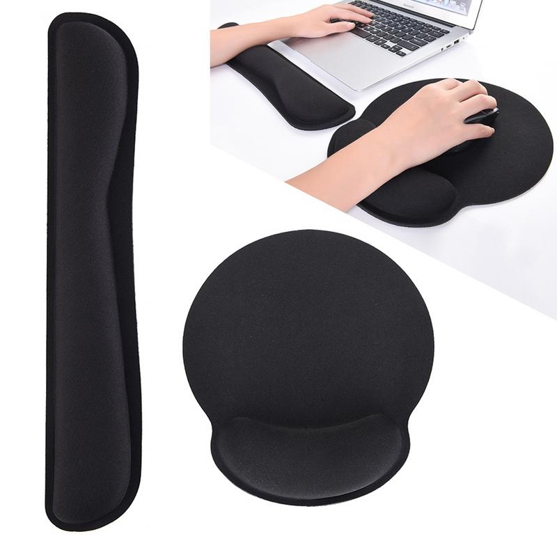 Mac Ergonomic Cushion Office Keyboard Wrist Rest Pad Mouse Support Memory Foam