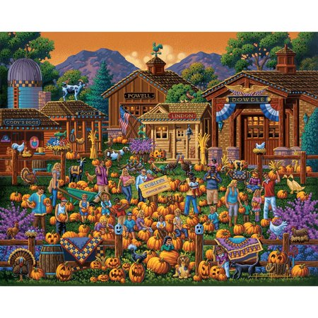 Dowdle Folk Art Toblers Pumpkin Patch Jigsaw Puzzle](Halloween Logic Puzzle)