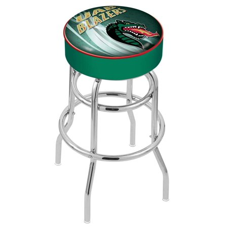 Wildcats Double Rung Vinyl - Alabama at Birmingham 25 Inch L7C1 Cushion Seat With Double Rung Chrome Base Bar