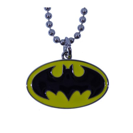 Batman Necklace Dog Tag DC Comics Logo Superhero Original Colors Metal Fashion