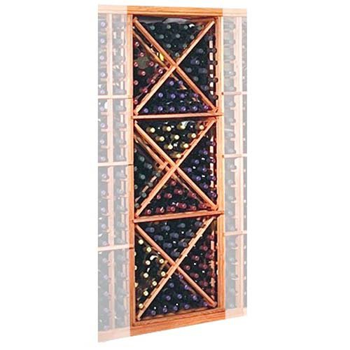 Designer Series 132-Bottle Open Diamond Cubes Wine Rack by Wine Cellar Innovation