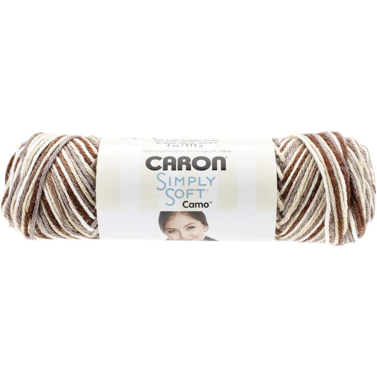 Simply Soft Camo Yarn-Woodland Camo