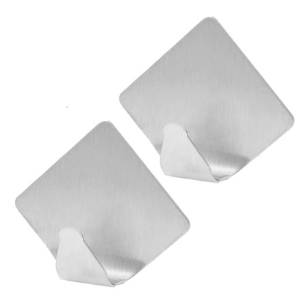 Bedroom Rhombus Shaped Clothes Bag Hat Coat Self-adhesive Hook Hanger 2 Pcs - image 1 of 1