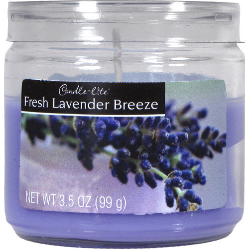 Fortune Products Candle-Lite Fresh Lavender Breeze Jar Candle (Set of 12)