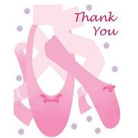 Ballerina 'Tutu Much Fun' Thank You Notes w/ Envelopes (8ct)