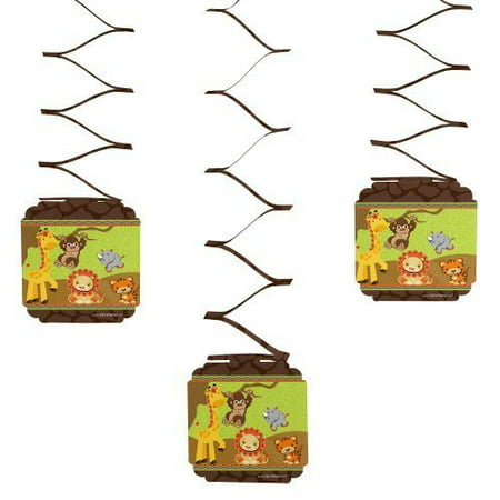 Funfari - Fun Safari Jungle - Party Hanging Decorations - 6 Count