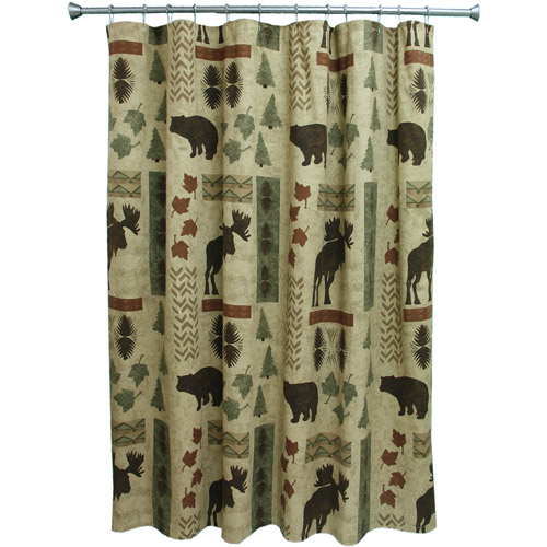 Bacova Guild Big Country Shower Curtain, Cream