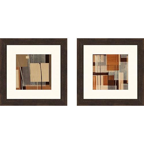 Linear Motion Framed Art I, Set of 2
