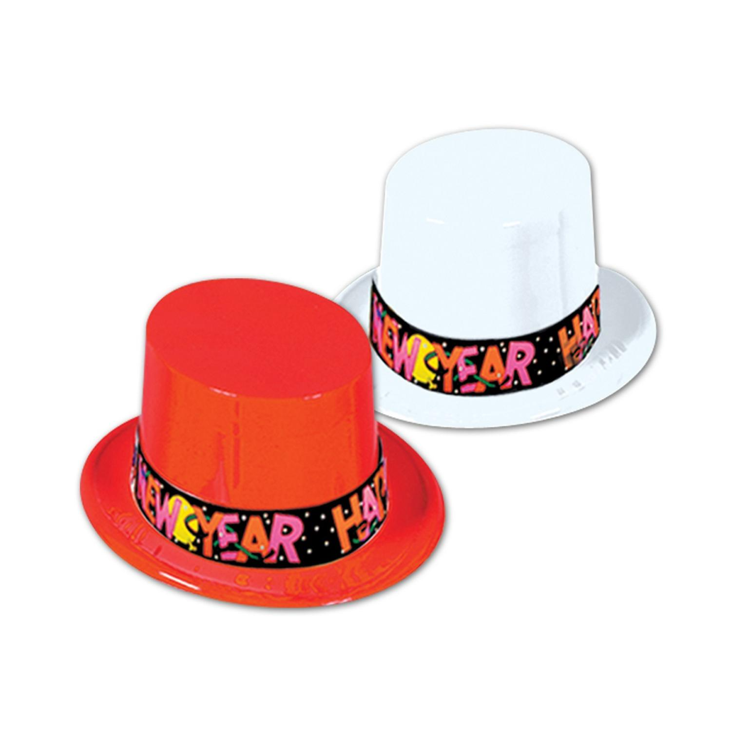 """Club Pack of 25 Red and White """"Happy New Years"""" Legacy Party Favor Hats"""